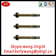 customized made brass/carbon steel/stainless steel through bolt made in China