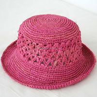 Hot sale custom cheap raffia straw hats for sale
