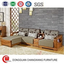 As the wooden sofa combination living room corner wooden sofa brand new Chinese wood furniture sofa