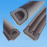 Back Adhesive P shape EPDM foam rubber self-adhesive seal strip aeries