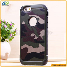 Shockproof silicon rubber case hard PC for Samsung S6 ,for iphone 6 2 in 1 hybrid case