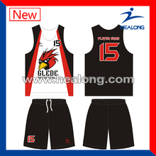 Popular youth sublimation best basketball jersey design