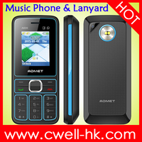 ADMET A600 Low Price Simple Mobile Phone with Lanyard Dual SIM Card 1.77 Inch TFT Screen FM Loudspeaker Dual LED Torch