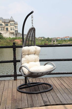 Cool style Outdoor swings PE Rattan hand weaving hanging chair