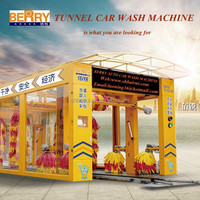 automatic tunnel car wash machine with 12 brushes equipment