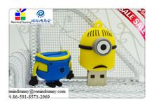 2015 New Cartoon Minions Toy model USB 2.0 Memory Stick Flash pen Drive 4GB 8GB 16GB 32GB