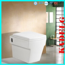 White Modern Back To Wall Bathroom Vanity Unit & Toilet Set With Soft Close Seat 2379B