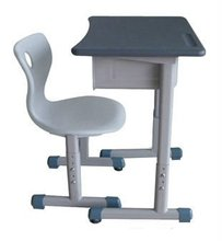 Single student desk and chair