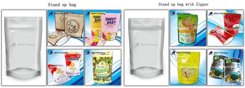 Impressão de embalagens de comida de plástico sacos para condimentos