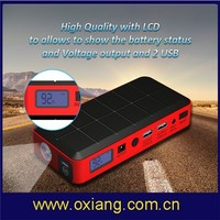 Factory Top Sales vehicle start SOS multifunction 12000mah car emergency jump starter OX-V1 with led lights