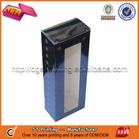 Stand up gift paper box with window