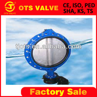 BV-SY-456 bare shaft SS 316 metal seated bares haft butterfly valve soft seal JIS10K fire hydrant