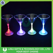 Plastic Flashing LED Cocktail Glass For Promotion