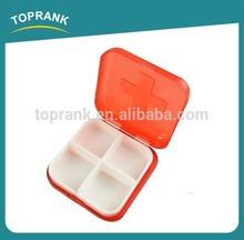 New design pill box 6 compartments portable