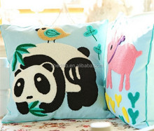 Sofa decorative animal and plant flocking 3D panda pig cactus kids toy backrest cushion