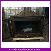 Hengsheng 20KW outdoor cast iron wood burning stove for sale