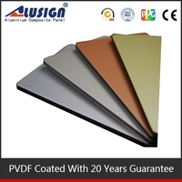 Thick aluminum insulated roofing sheets exterior plastic cladding sheets