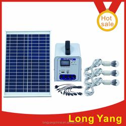 ZhongShan LongYang 20w solar panel 20AH lead acid battery small solar power system home electronics with led light