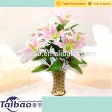 Clases de color 6 cabezas y 9 cabezas flor del lirio artificial