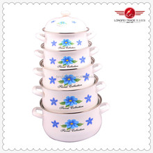 Hot Pot Set White Enameled Cookware Set Enamel Cooking Pot