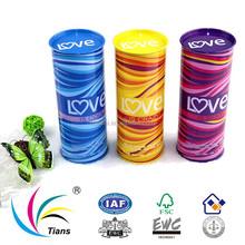 PVC PET transparent gift tube for perfume