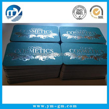 Custom printed standard size luxury silver foil business card