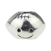 Wholesale Authentic 925 Sterling Silver Charm Smiley Face Rugby Ball For European Bracelet