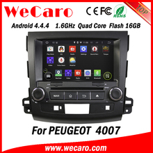 """Wecaro Android 4.4.4 touch screen in dash 8"""" car multimedia dvd player gps navigation for peugeot 4007 radio"""