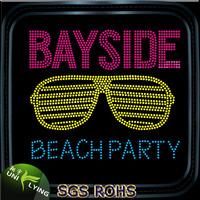 Bling bayside sunglasses hotfix rhinestone transfer