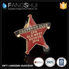 Red star lapel pins productions