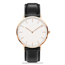 original Japan Movt Quartz daninel wellington genuine leather watch