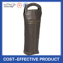 Genuine leather wine bag carrier