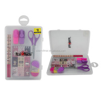 Hot sales ! plastic pencil case for school stationery with rule ,eraser,pencil