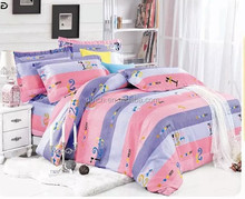 100% Polyester Brushed Plain/Twill Woven/Pigment Printting Bed sheet/Bedding set