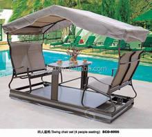 2014 hot sale metal / wooden garden swing bed / swing chair