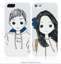 Phone Case For Lovers Couple Stylish Mobile Phone Back Cover For iPhone 5.