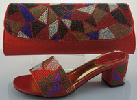 SB428 red color EUR size 38/39/40/41/42 message us which size you want italian matching shoes and bags