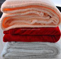 polar fleece TV blanket with satin hem