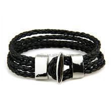 2014 multi circle leather cord silicone usb bracelet
