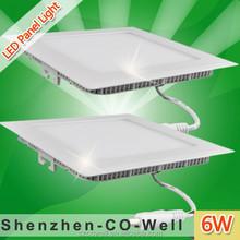 Shenzhen 12v DC ultra Flat backlight square led panel light ceiling lighting