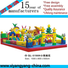 Outdoor commercial jumping inflatable castle