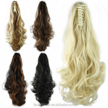 YILU Long Wavy Synthetic Hair Ponytail Clip-In Hair Extension Claw Ponytail