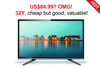 "HOT!!! Cheapest 32"" LED TV 32 inch TVs 85USD/pc"