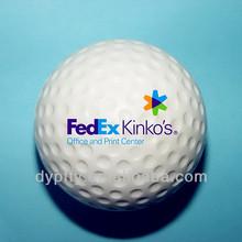 63mm pu stress golf balls with custom logo printed