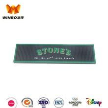 Brand pvc bar mat/ rubber bat mat with 2D logo