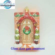 Glass gate ornament of Jesus' birthing place unique items sell for Christmas decoration