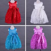 latet flower design baby girls princess dress boutique girls party dress evening dress