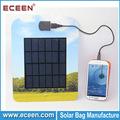 Fashional tarjeta de papel nivea diseño del panel solar, nivea cargador solar para el teléfono móvil