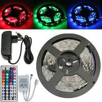 5050 RGB 150 LED SMD 5M 500CM Light Strip+44 Key IR+12V 2A Power Supply