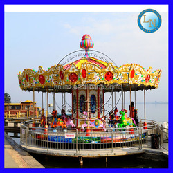 Kids playground merry go round !amusement carousel horses for sale